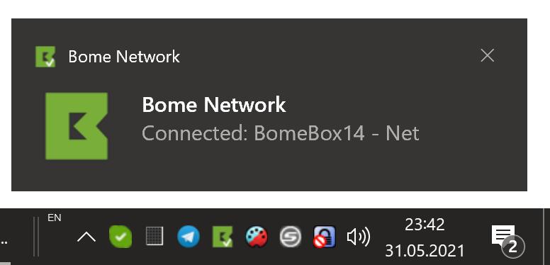 Bome Network Windows Tray