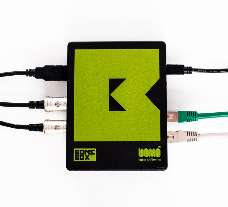 BomeBox with attached cables