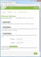 BomeBox Web Config: Ethernet Settings
