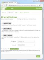 BomeBox Web Config: Ethernet Settings