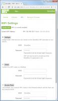 BomeBox Web Config: WiFi Settings