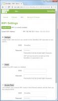 BomeBox Web Config: WiFi Settings
