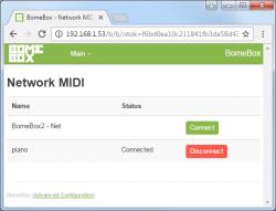 BomeBox Web Config: Network MIDI