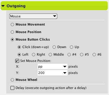 Mouse Outgoing Action