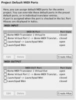 MIDI Port Setup