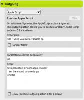 AppleScript Outgoing Action