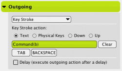 Keystrokes Outgoing Actions
