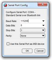 Serial Port Config