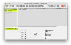 MIDI Translator main window