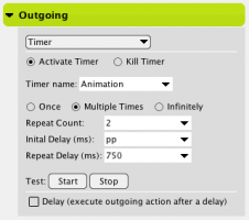 Timer Outgoing Action