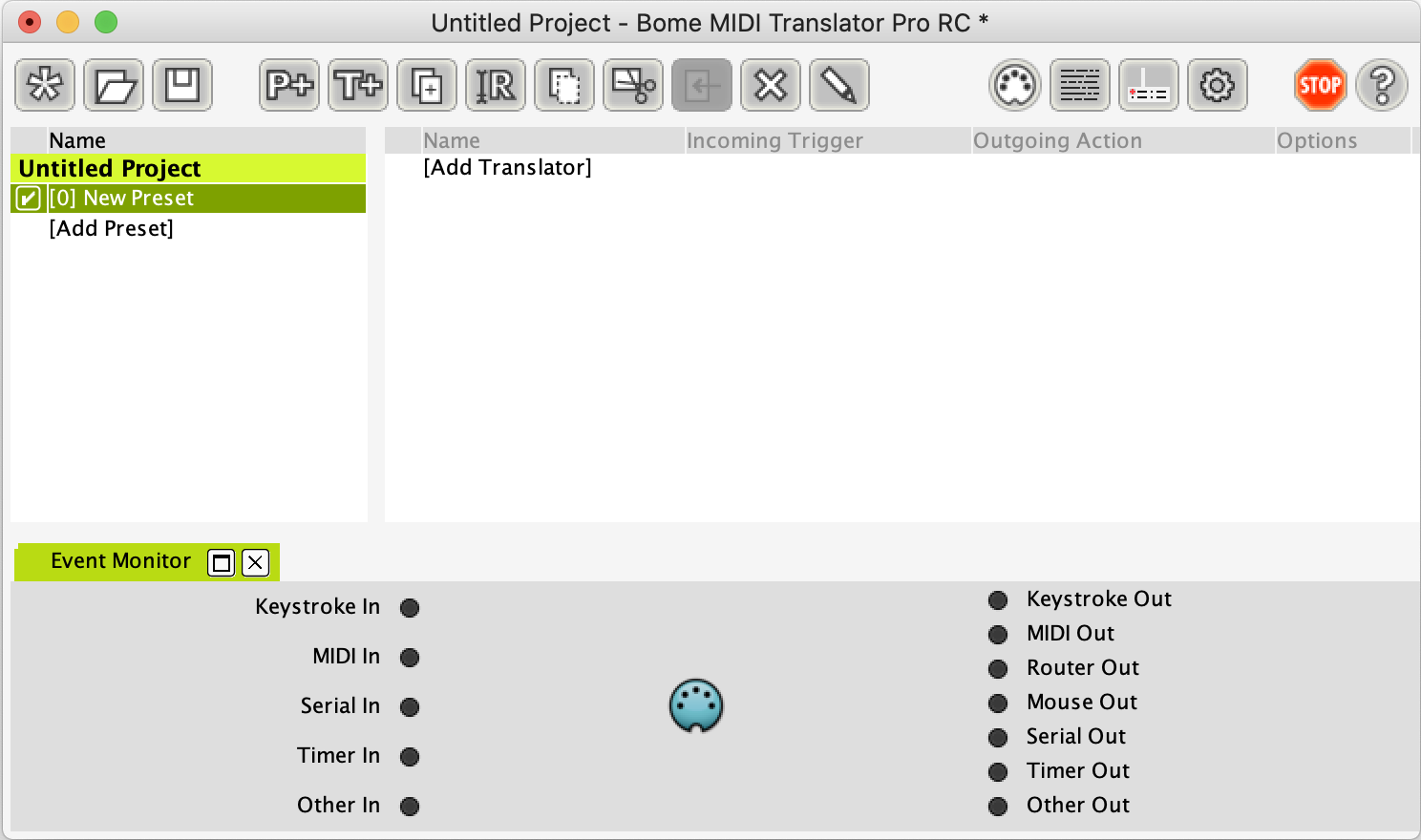 MIDI Translator Pro main window