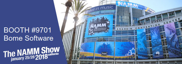 NAMM Show 2018 Bome Software