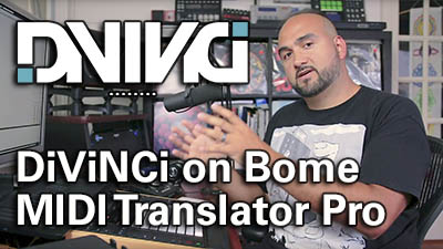 DiViNCi endorses Bome MIDI Translator Pro